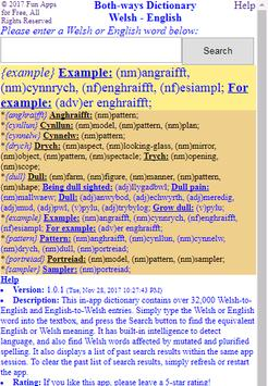 Both-ways Dictionary Welsh - English poster