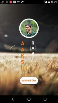 Aakash Resume poster