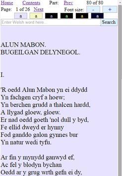 Read Welsh QuickDict Barddoniaeth Ceiriog apk screenshot