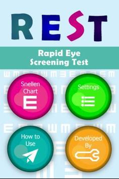 REST Rapid Eye Screening Test apk screenshot