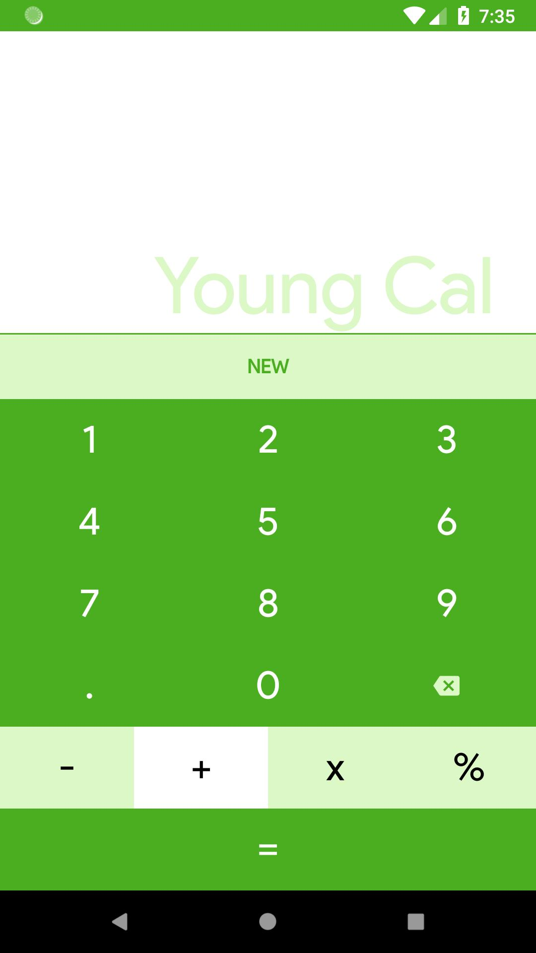 A Young Cal - A Simple Calculator - Made In Kotlin for