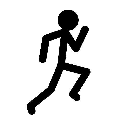 Stickman Running SVG Vector, Stickman Running Clip art - SVG Clipart