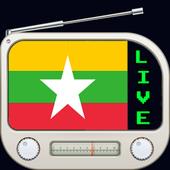 Myanmar Radio Fm 6 Stations | Radio Burma Online icon