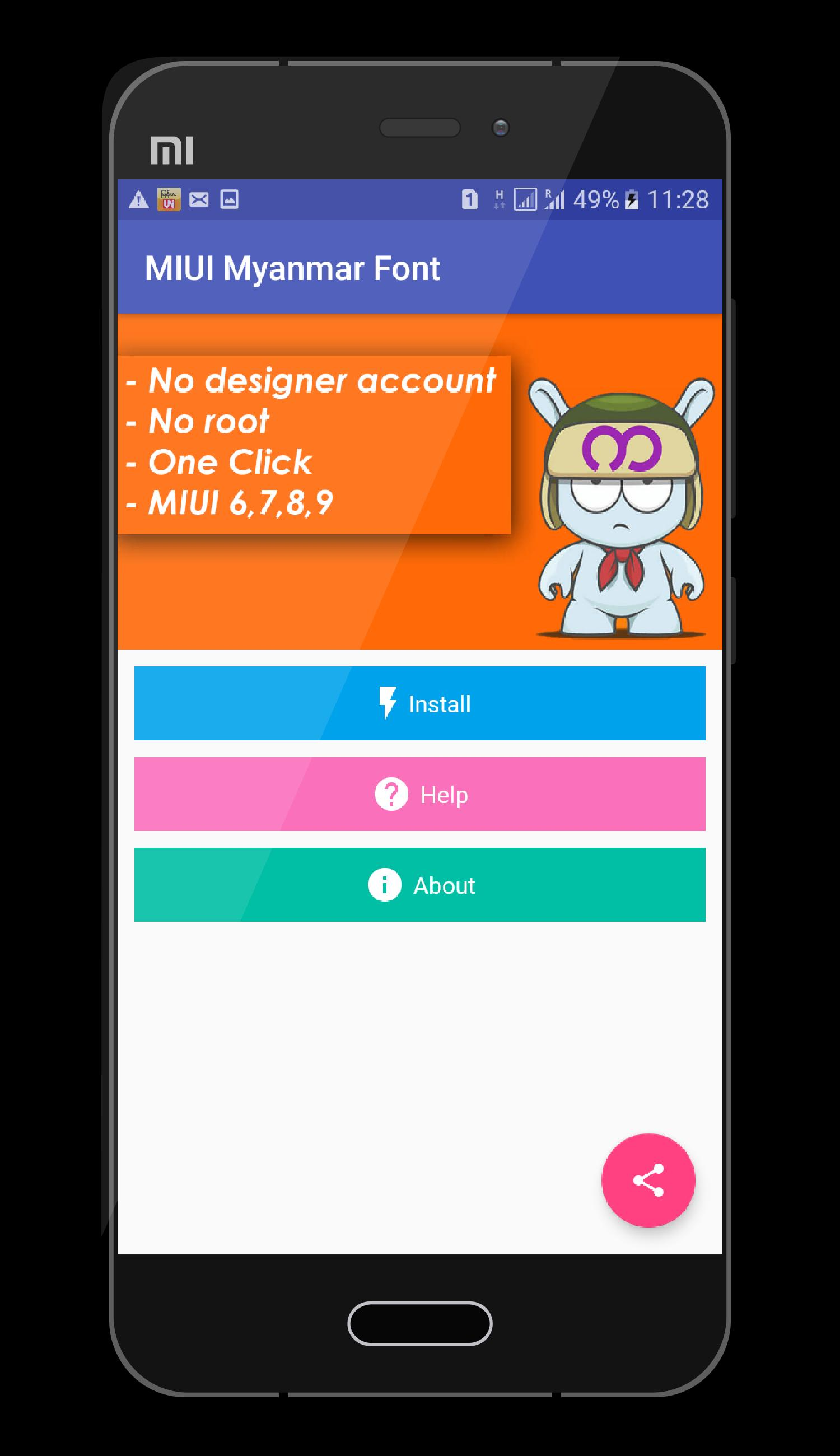 Mi Myanmar Font (MIUI 6,7,8,9) for Android - APK Download