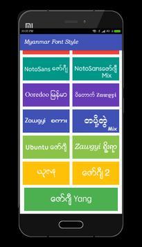 Mi Myanmar Font Styles screenshot 5