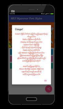 Mi Myanmar Font Styles screenshot 6