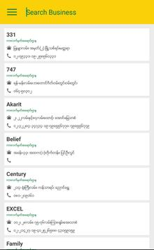 Mandalay Business Directory apk screenshot