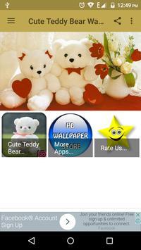 Cute Teddy Bear Wallpaper poster