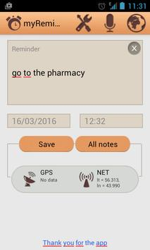 My Reminder apk screenshot