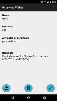 Password Wallet apk screenshot