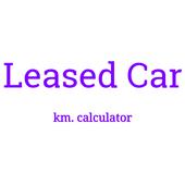 Leased car mileage calculator icon