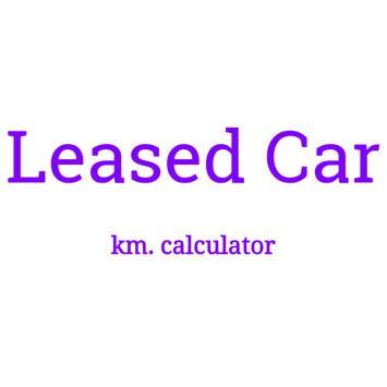 Leased car mileage calculator poster
