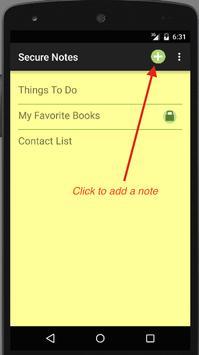 Secure Notes screenshot 1