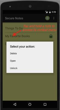 Secure Notes screenshot 4