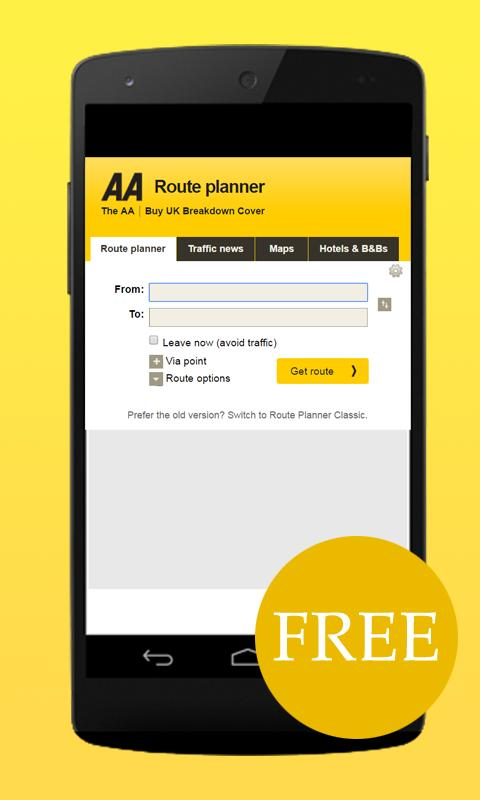 Aa Route Map Classic Free AA Route Planner Tips for Android   APK Download Aa Route Map Classic