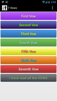 Seven vows of Hindu Marriage poster