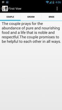 Seven vows of Hindu Marriage screenshot 1