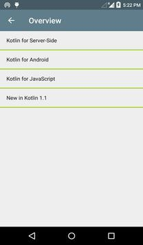 Kotlin Language apk screenshot