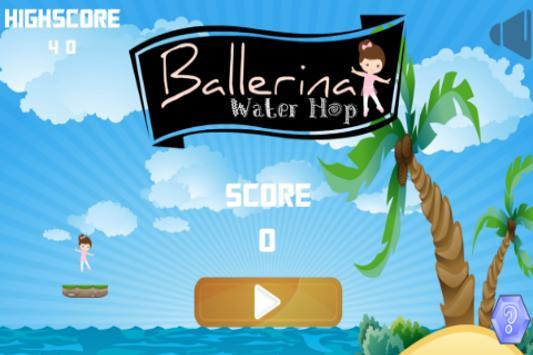 Ballerina Water Hop screenshot 1