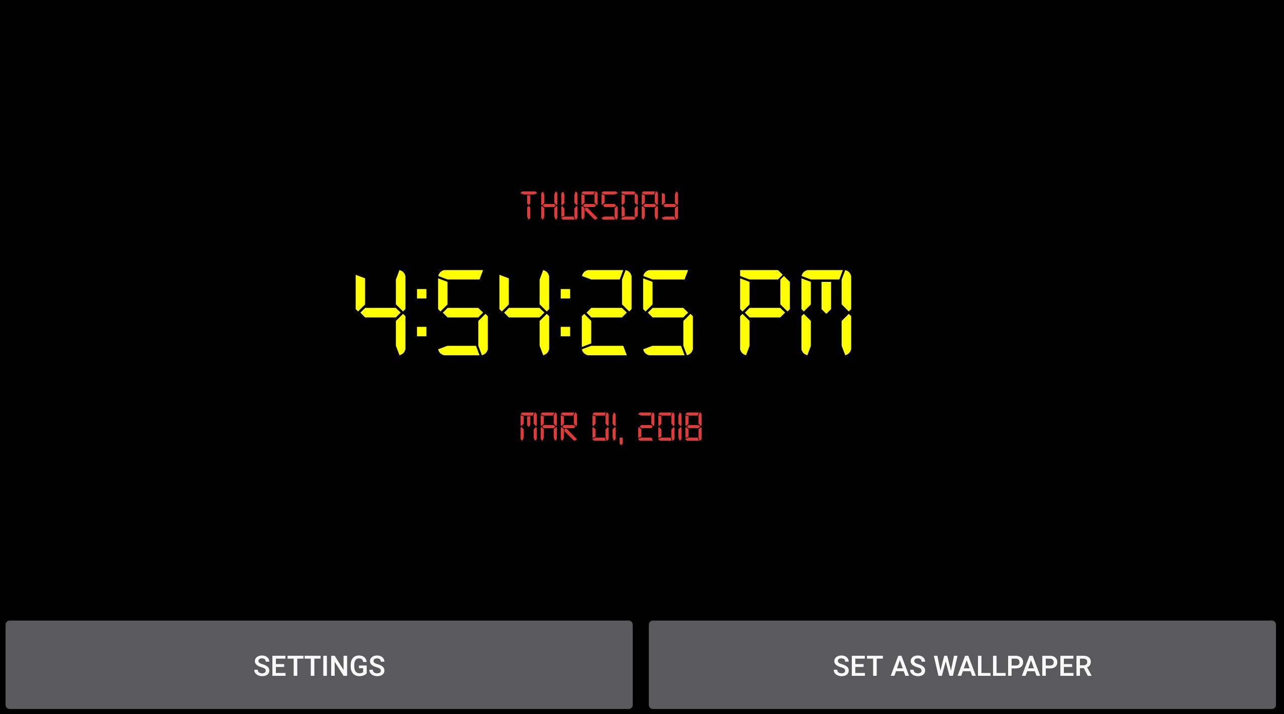 Digital Clock Live Wallpaper for Android - APK Download