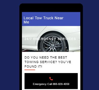 Towing Truck Service Near Me poster