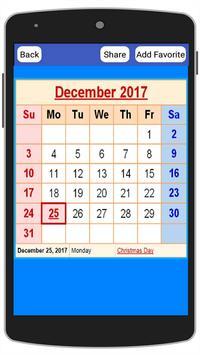 USA Calendar 2017 poster