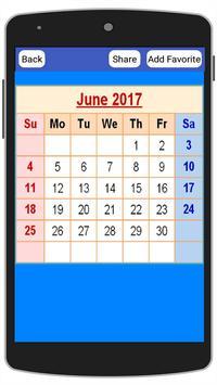 USA Calendar 2017 screenshot 1