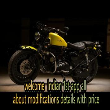 bike modification details and price poster