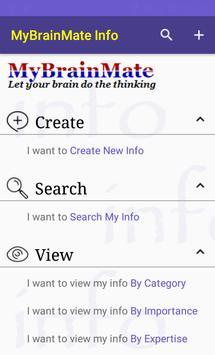 MyBrainMate Info poster