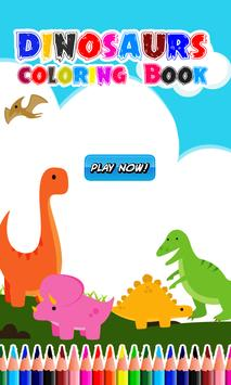 Dinosaurs Coloring Book Poster Apk Screenshot