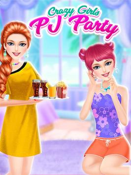 Crazy Highschool Girl PJ Party screenshot 5