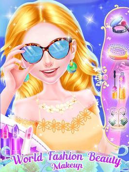 World Fashion Makeup & Dressup screenshot 1