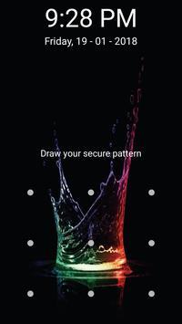 Lock screen - PIN and Pattern screen Lock screenshot 8