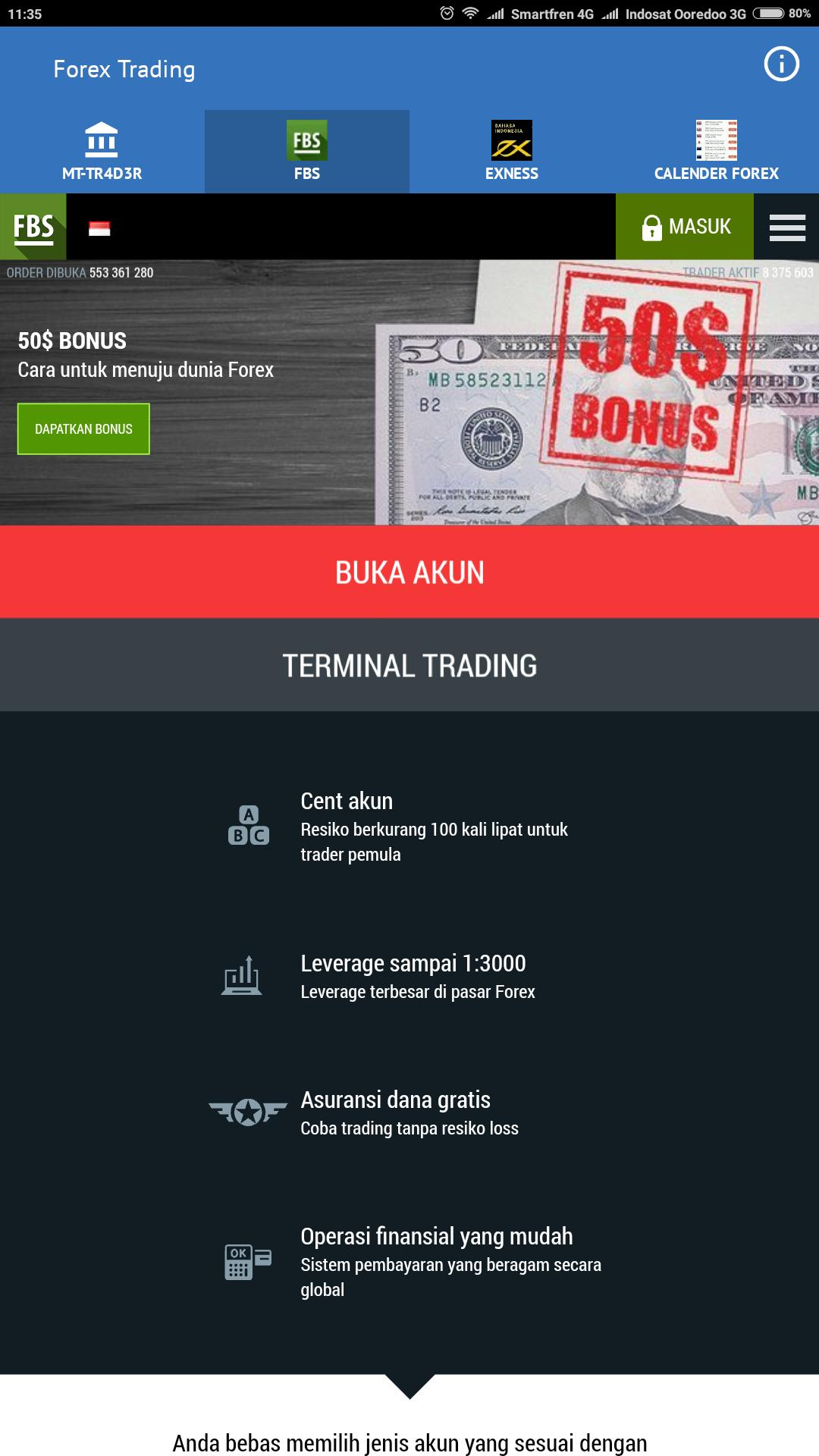 Robot Forex Trading Di Broker Fbs & Exness for Android - APK