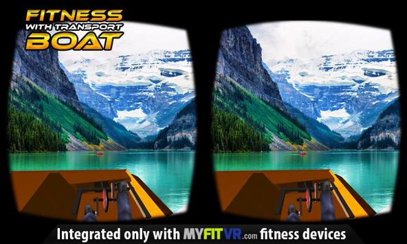 Fitness with Transport Boat VR poster