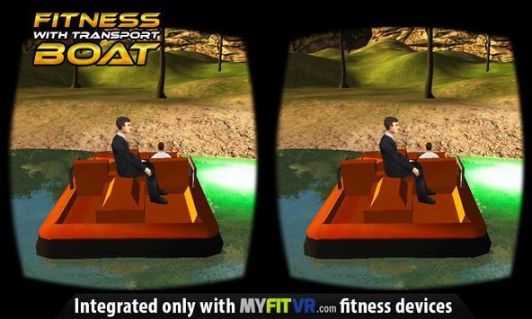 Fitness with Transport Boat VR apk screenshot