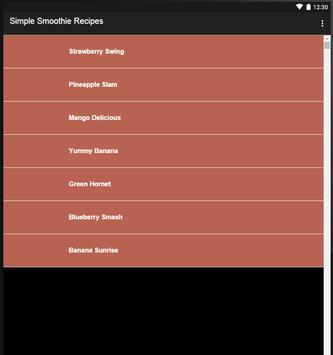 Simple Smoothie Recipes apk screenshot