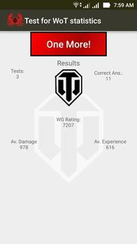 Test for WoT statistics apk screenshot