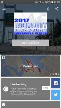 Tacoma City Marathon poster