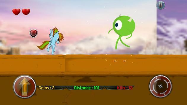 Little Unicorn Pony Fights 2D screenshot 4