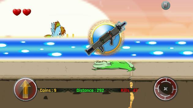 Little Unicorn Pony Fights 2D screenshot 5