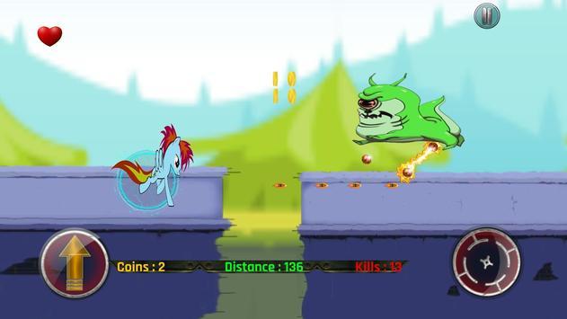 Little Unicorn Pony Fights 2D screenshot 6