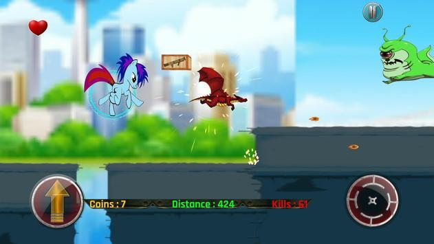 Little Unicorn Pony Fights 2D screenshot 7