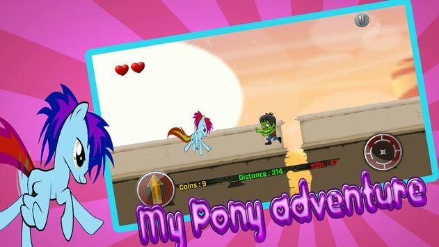 Little Unicorn Pony Fights 2D screenshot 1