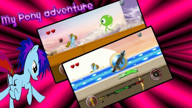 Little Unicorn Pony Fights 2D screenshot 2