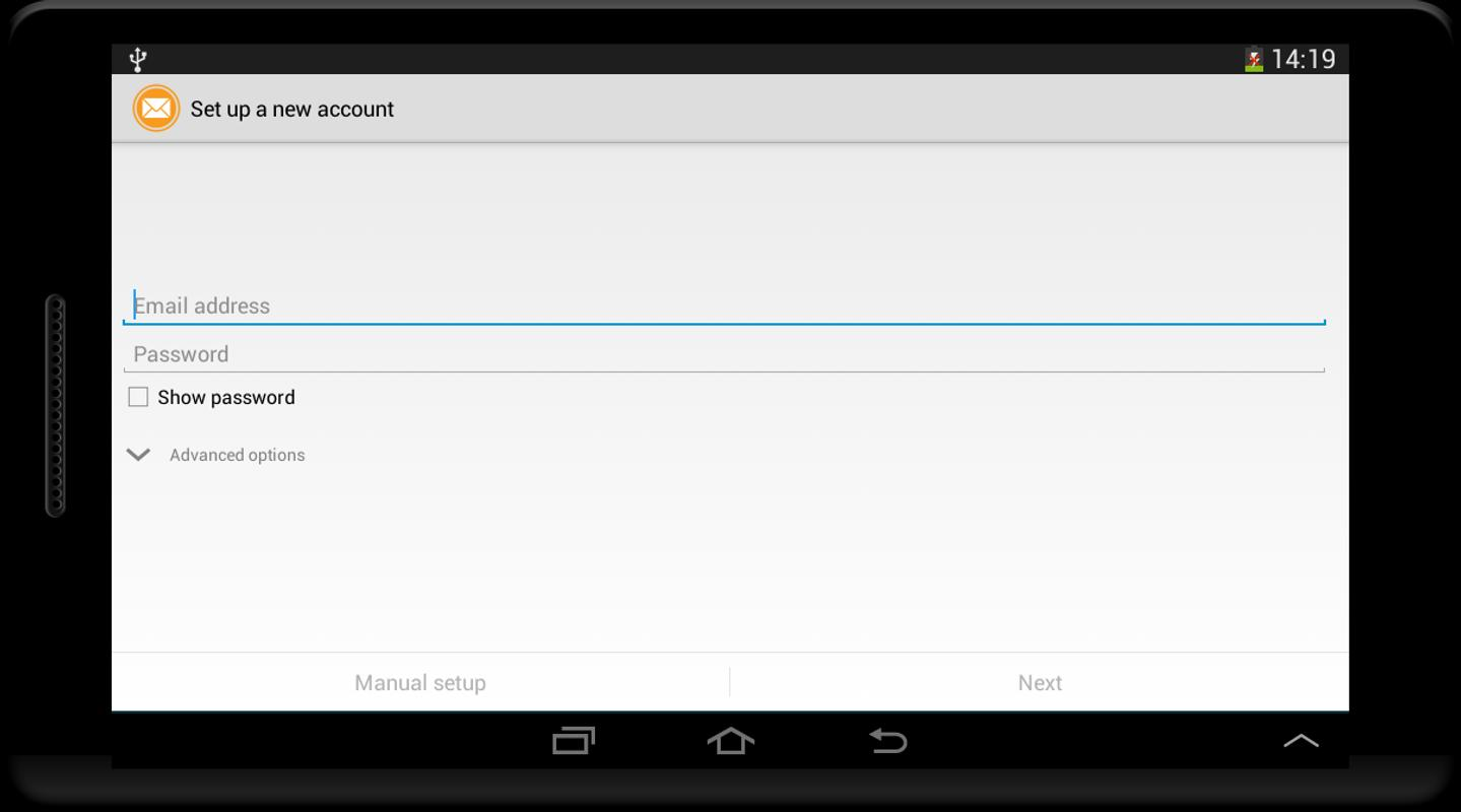 how to create a whitelist for hotmail in android phone