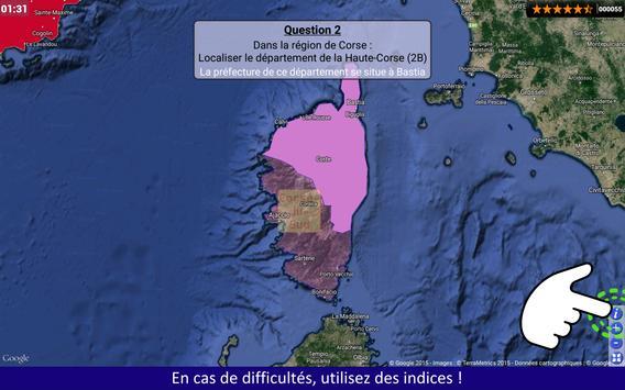 Regions Departements Quiz apk screenshot