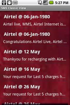 SMS Classic View apk screenshot