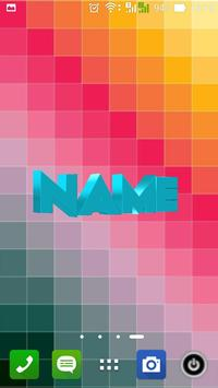 3D My Name Live Wallpaper Poster