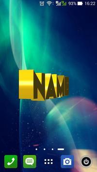 3D My Name Live Wallpaper Poster Apk Screenshot